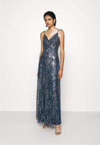 Lace & Beads - FRANCINE MAXI - Společenské šaty - navy - 0