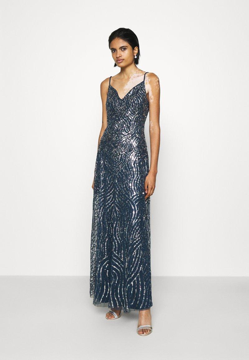 Lace & Beads - FRANCINE MAXI - Společenské šaty - navy