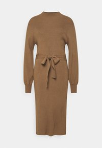 Moss Copenhagen - MALLORY LIKE DRESS - Pletené šaty - dark brown - 0