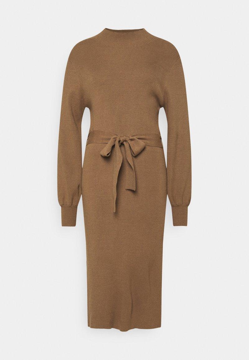 Moss Copenhagen - MALLORY LIKE DRESS - Pletené šaty - dark brown