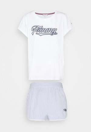 SEERSUCKER SHORT SET  - Pigiama - white/white