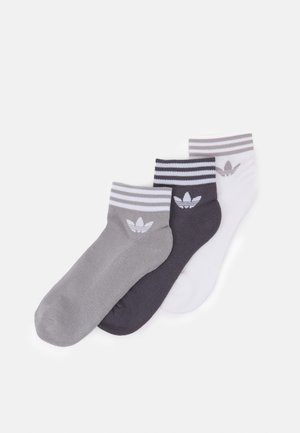 TREF UNISEX 3 PACK - Strumpor - white/grey/dark grey