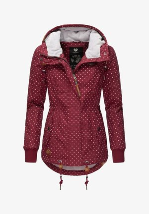 YM-DANKA DOTS - Winter coat - wine red