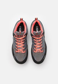 CMP - KIDS RIGEL LOW SHOE WP UNISEX - Hiking shoes - grey/red fluo - 3