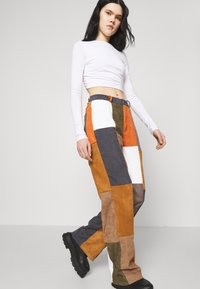 Jaded London - PATCHWORK WIDE LEG TROUSER - Trousers - multi - 3