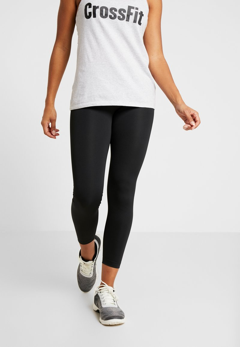 Reebok - WORKOUT READY COMMERCIAL TIGHTS - Leggings - black
