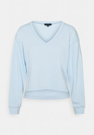 V NECK - Long sleeved top - ice water