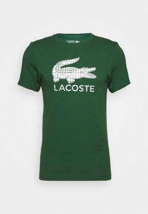 BIG LOGO - T-shirt imprimé - green/white