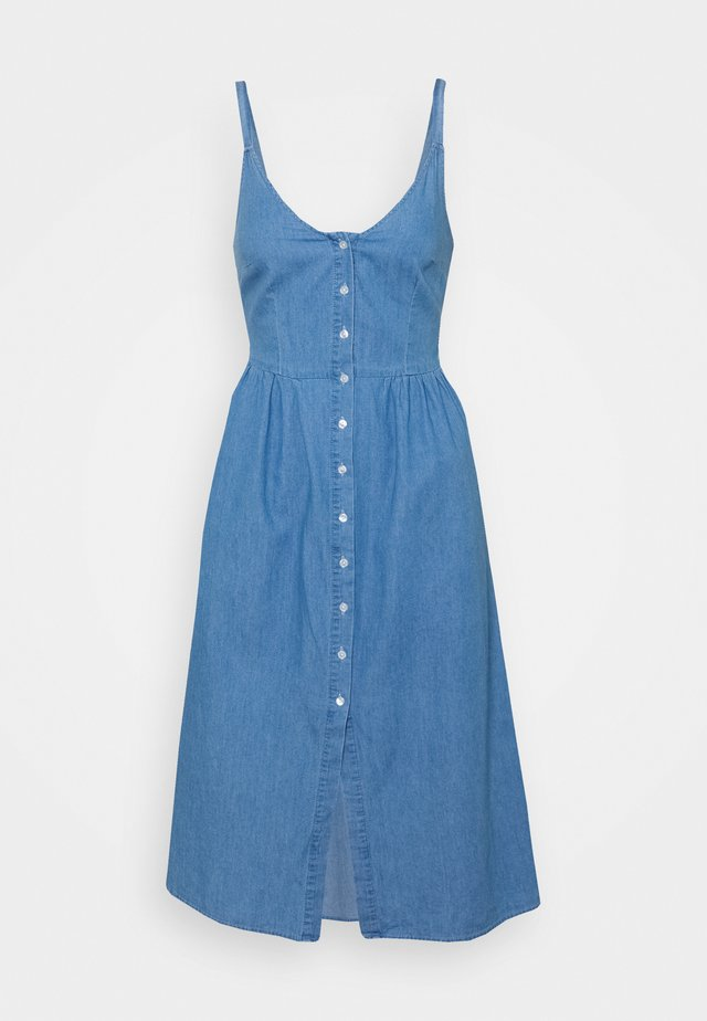 VIFANZI MIDI STRAP DRESS - Spijkerjurk - light blue denim