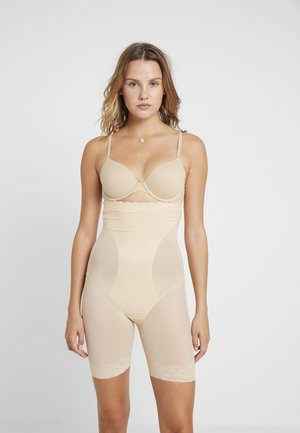 DSIRED SCALLOP SHEER HIGH BERMUDA - Shapewear - latte