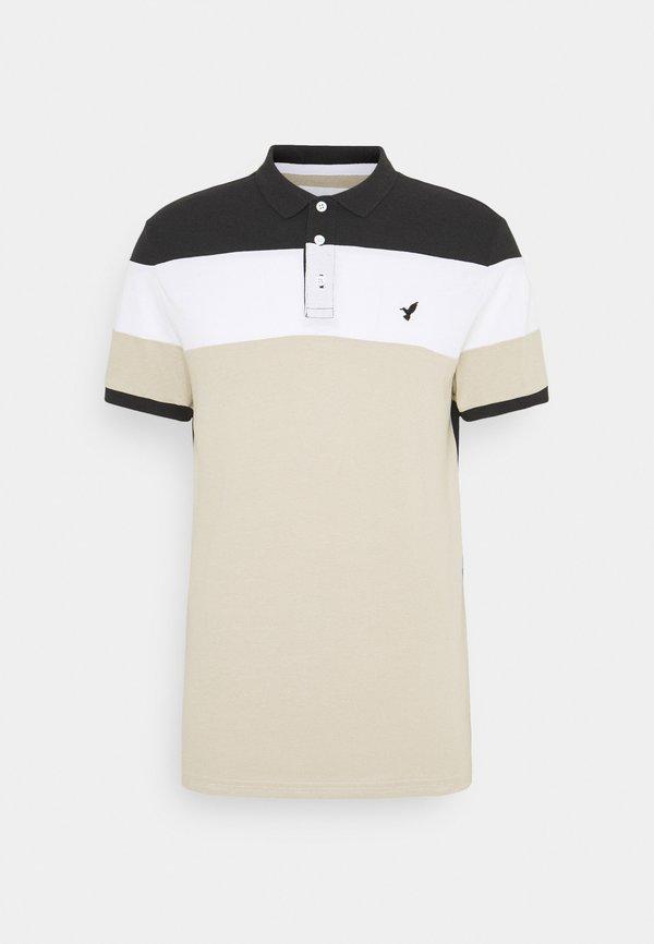 Pier One Koszulka polo - black/sand/czarny Odzież Męska KKLX