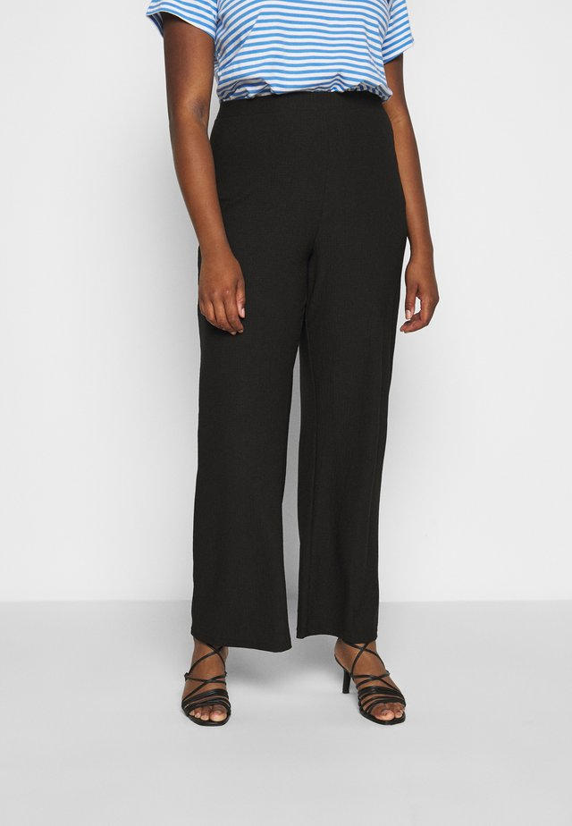 CARKERVE WIDE PANTS - Bukser - black