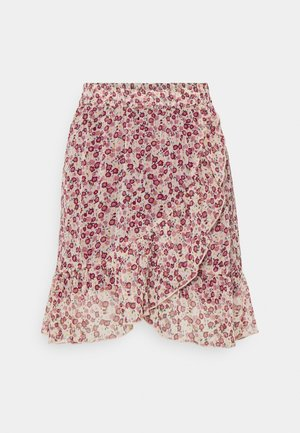 JDYJENNIFER LIFE MINI SKIRT - Minifalda - cloud dancer/red
