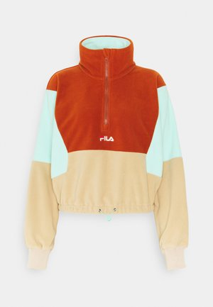 WALTA HALF ZIP - Fleece jumper - irish cream/cinnamon stick/beach glass