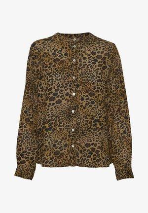 KAJUSTINA PPP - Blouse - brown - leopard print