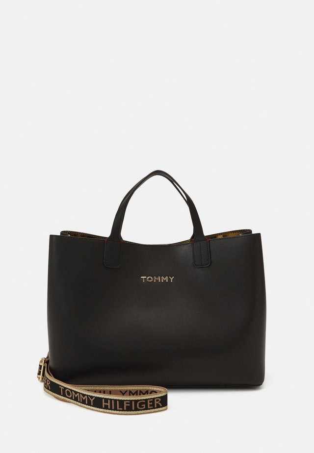 ICONIC SATCHEL - Sac à main - black