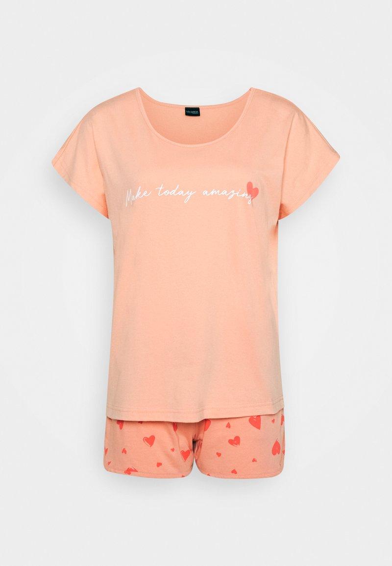 LASCANA - SHORTY LOVELY - Pyjama set - soft coral