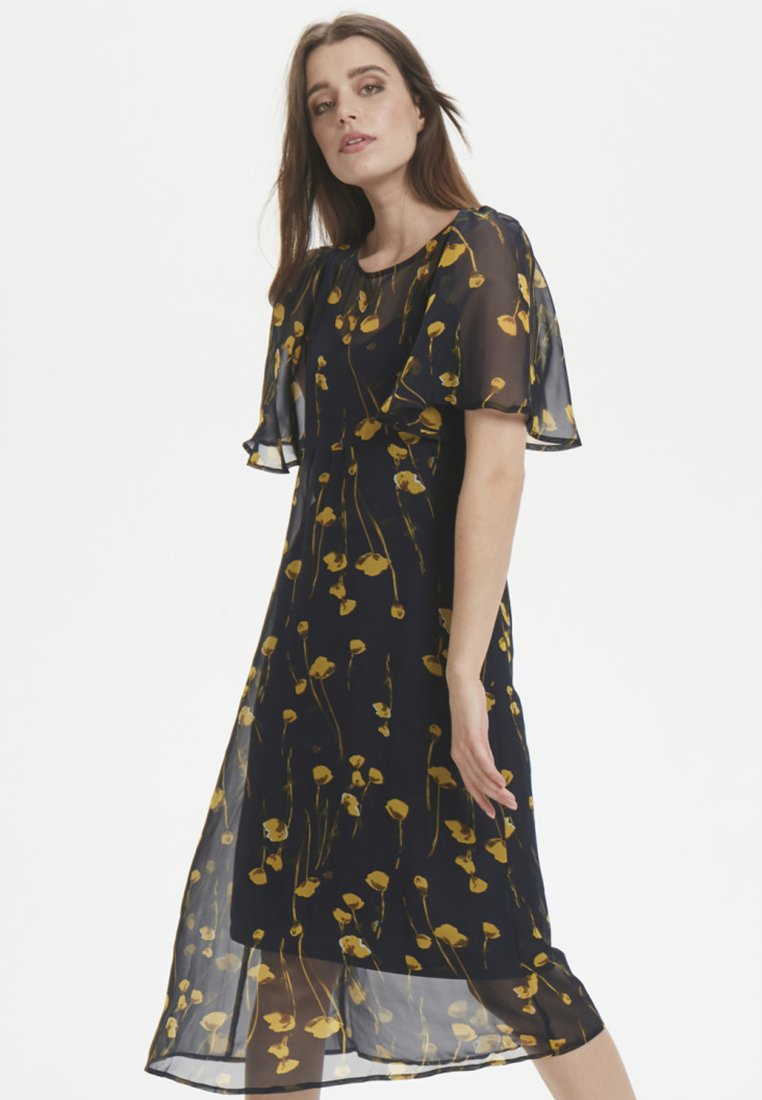 Soaked in Luxury - Maxi dress - navy/yellow