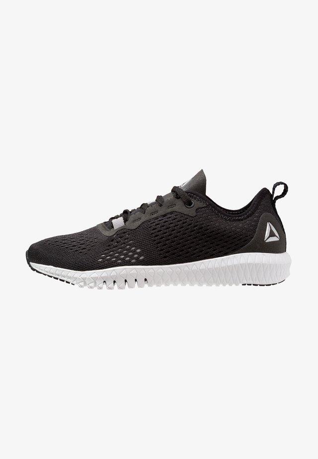 FLEXAGON - Sports shoes - black/white/silver