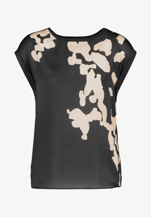 Print T-shirt - black gemustert