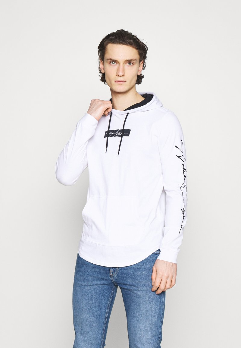 Hollister Co. - ICONIC HOODS  - Long sleeved top - white