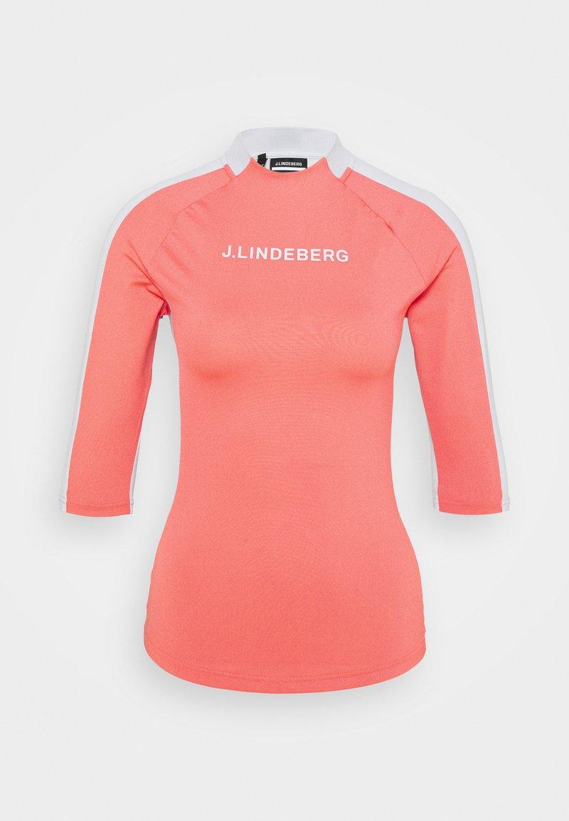 J.LINDEBERG - MARGOT SOFT COMPRESSION - Print T-shirt - tropical coral
