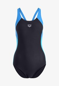 Arena - REN ONE PIECE - Swimsuit - black/pix blue/turquoise - 5