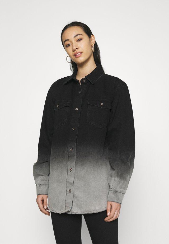 TIE DYE OMBRE - Krátký kabát - black