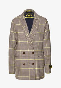 Scotch & Soda - DOUBLE BREASTED LONGER LENGTH IN SPECIAL CHECK - Blazer - yellow - 0