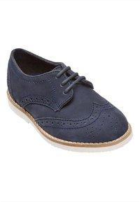 Next - LEATHER BROGUES  - Šněrovací boty - blue - 2
