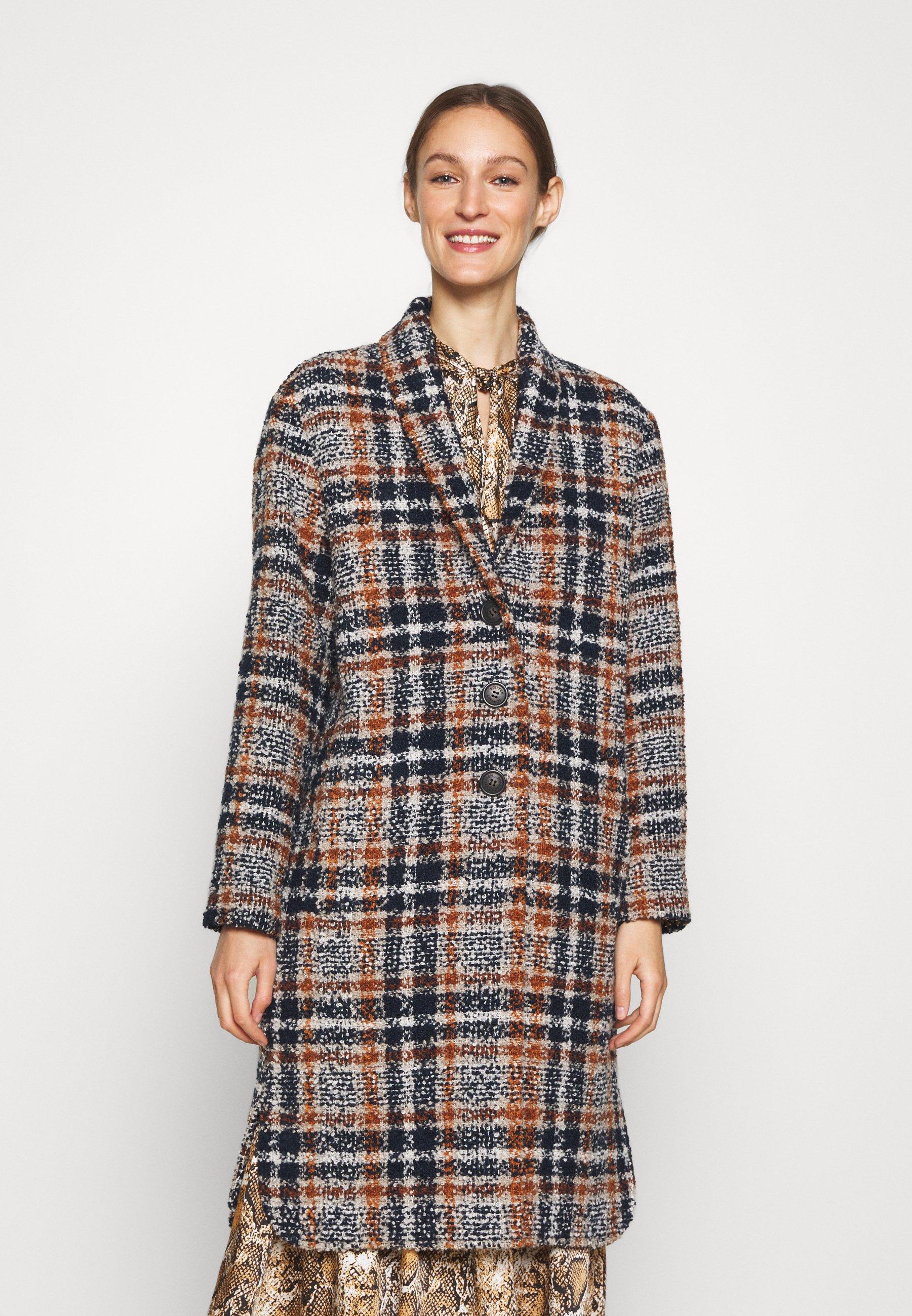 Women AVANI CHECK COAT - Classic coat