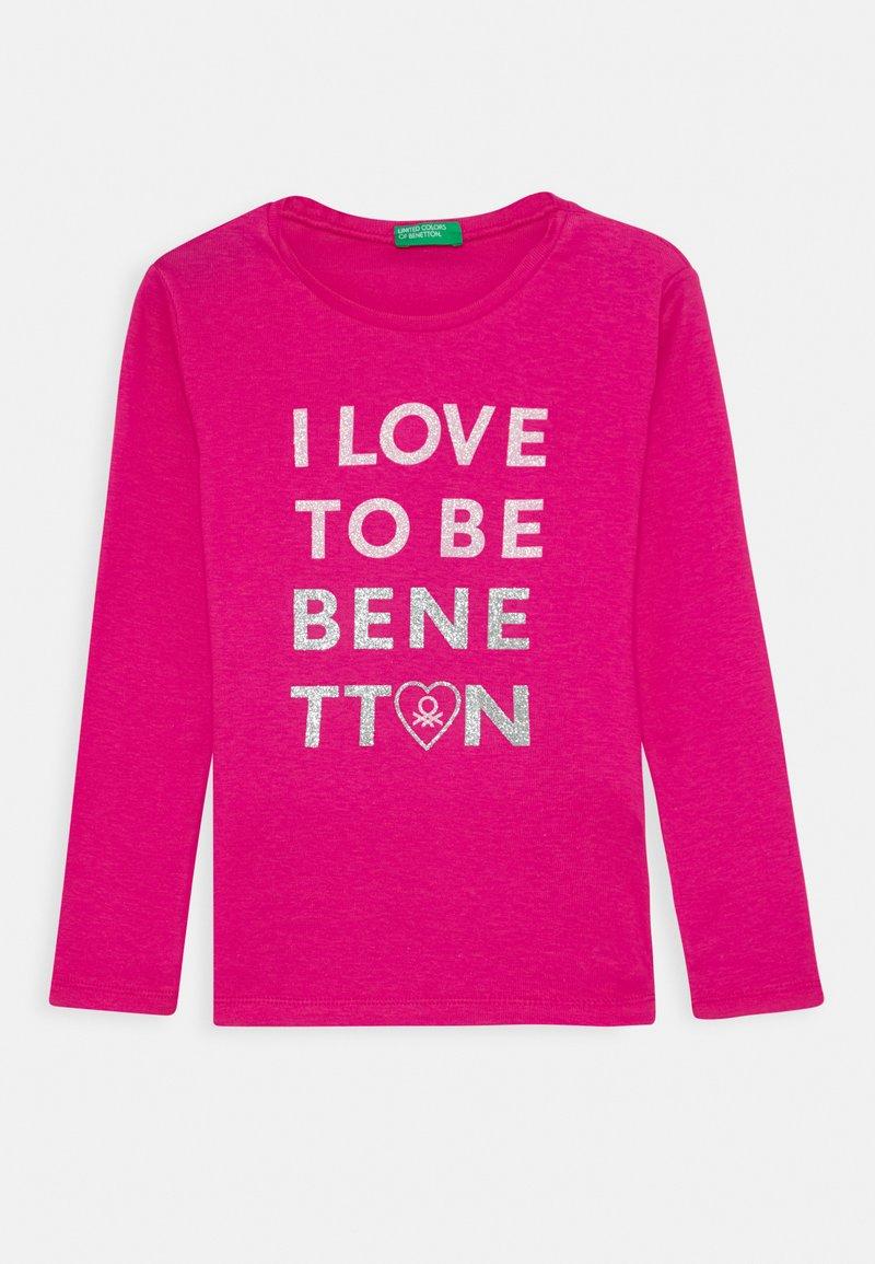 Benetton - Triko spotiskem - pink