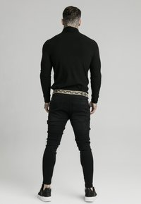 SIKSILK - LONG SLEEVE BRUSHED TURTLE NECK - Trui - black - 2