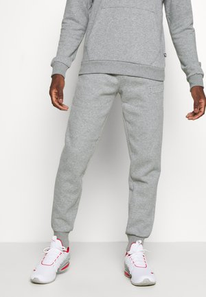 MODERN BASICS PANTS - Tracksuit bottoms - medium gray heather