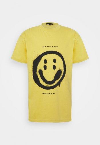 SUNDAZE FACE REGULAR UNISEX - Triko spotiskem - yellow