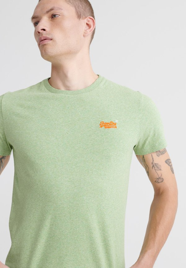 Superdry T-shirt basic - shamrock green grit/zielony Odzież Męska IHHA