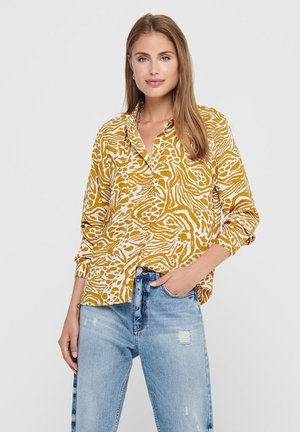 Button-down blouse - cement