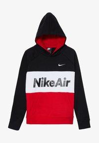 Nike Sportswear - B NSW NIKE AIR PO - Jersey con capucha - black/university red/white - 3