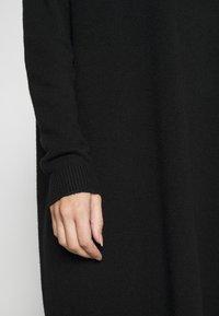 Vila - VIRIL ROLLNECK  - Strikket kjole - black - 5
