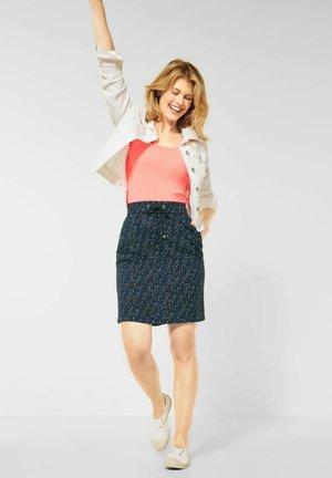MIT MINIMAL MUSTER - Mini skirt - blau