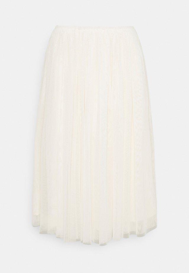 YASBEDDA MIDI SKIRT - A-line skirt - pearled ivory