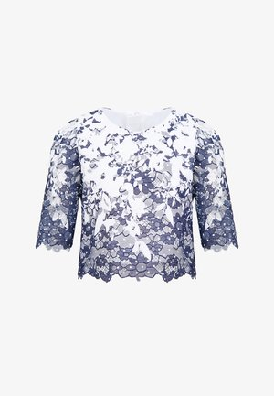 Blouse - white and blue