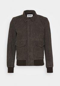 Schott - KANSAS  - Leather jacket - taupe - 0