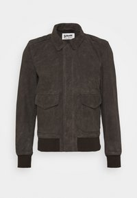KANSAS  - Leather jacket - taupe