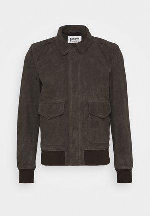 KANSAS  - Leather jacket - taupe