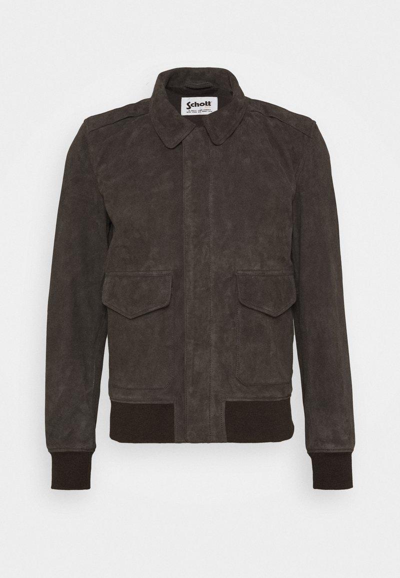 Schott - KANSAS  - Leather jacket - taupe