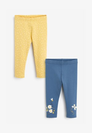 2 PACK BUTTERFLY - Leggings - Trousers - yellow, blue, white