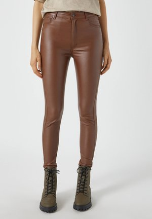 Jeans Skinny Fit - mottled light brown