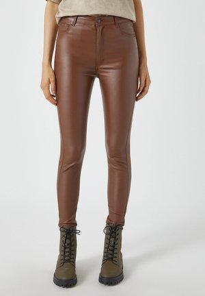 Jeans Skinny - mottled light brown