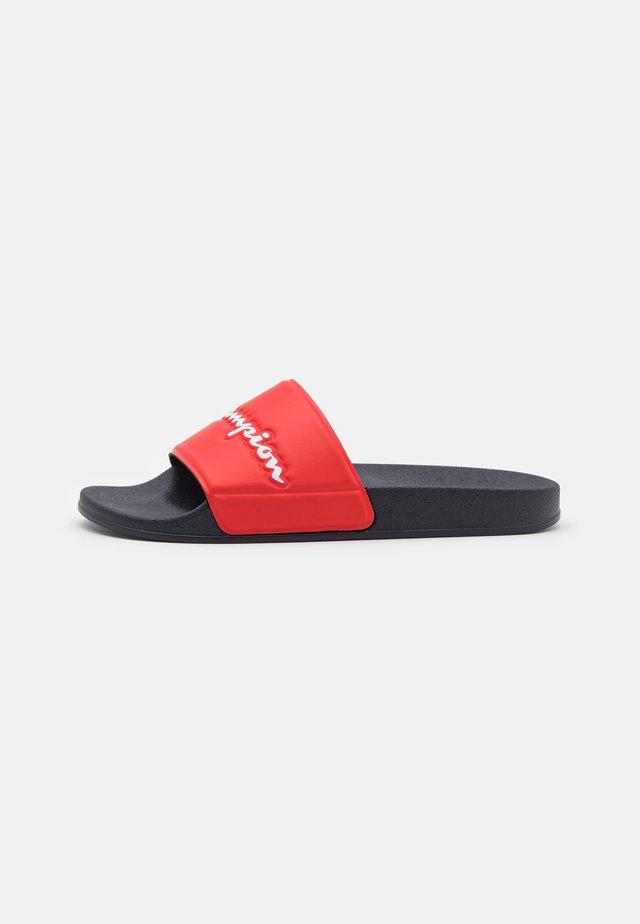 SLIDE VARSITY 2.0  - Pool slides - navy/red